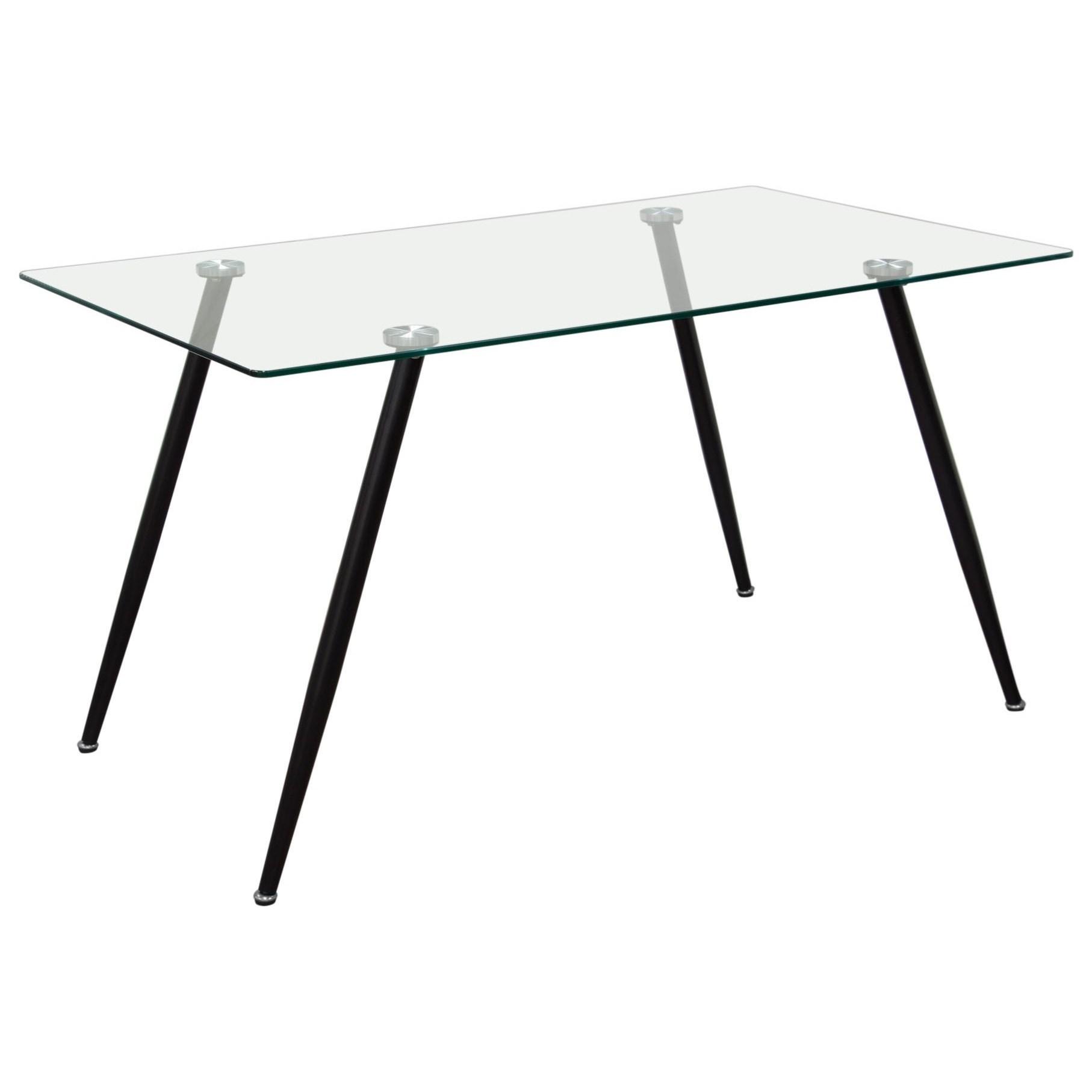Diamond Sofa Finn Finndt Rectangular Glass Top Dining