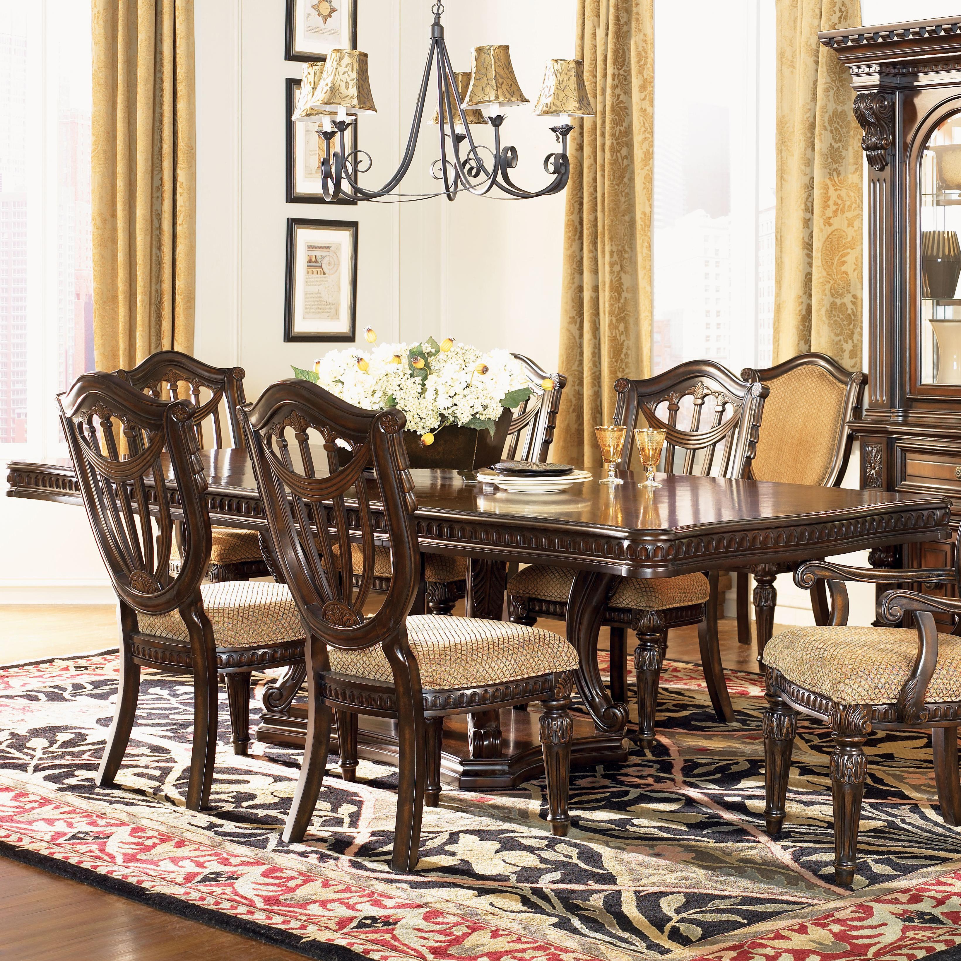 Fairmont Designs Grand Estates Double Pedestal Rectangular Dining Table Royal Furniture Dining Tables