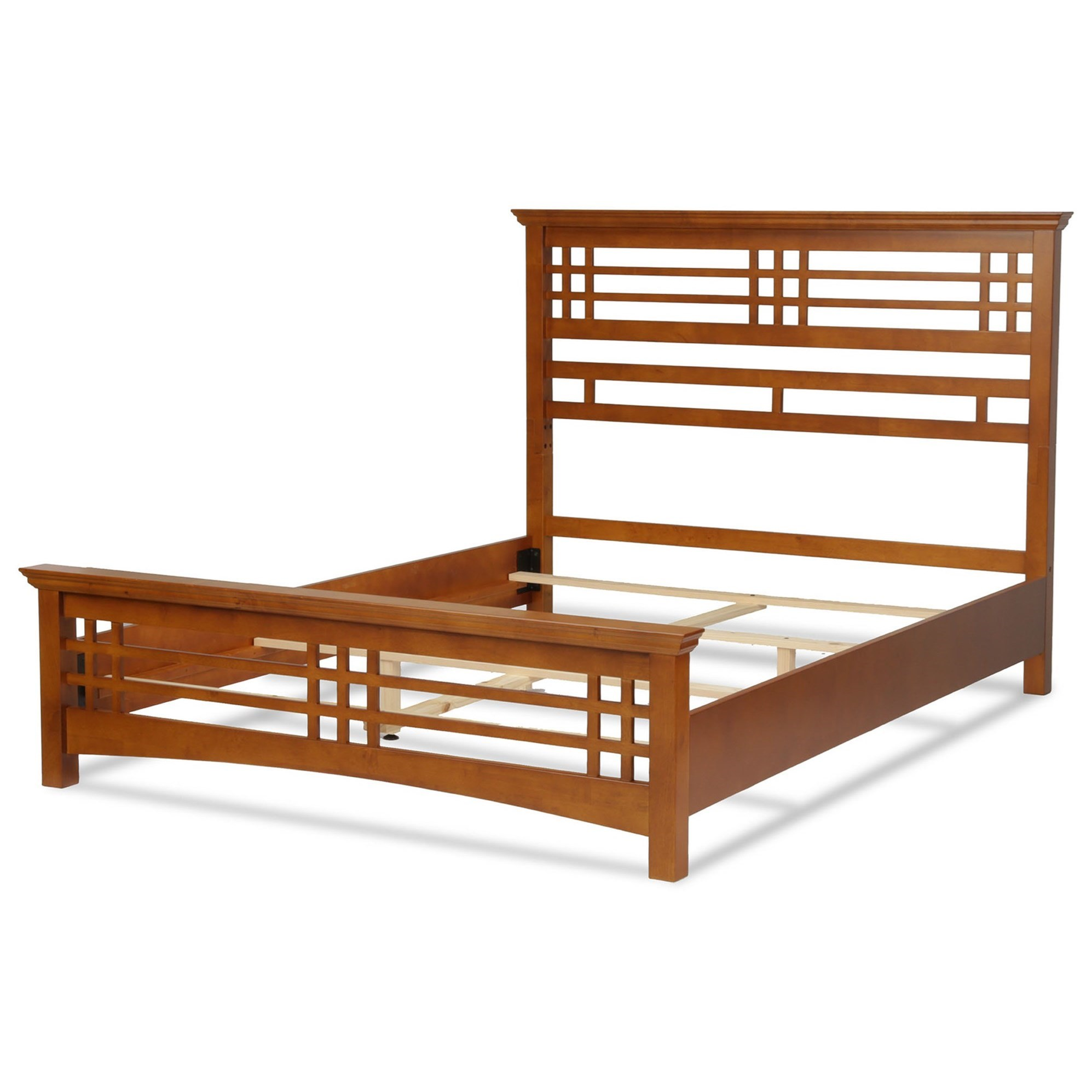 wood avery cal king bed