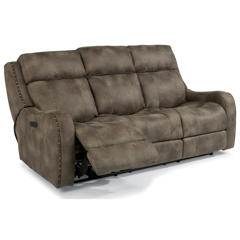 Flexsteel Latitudes Springfield Power Reclining Lay Flat Sofa With