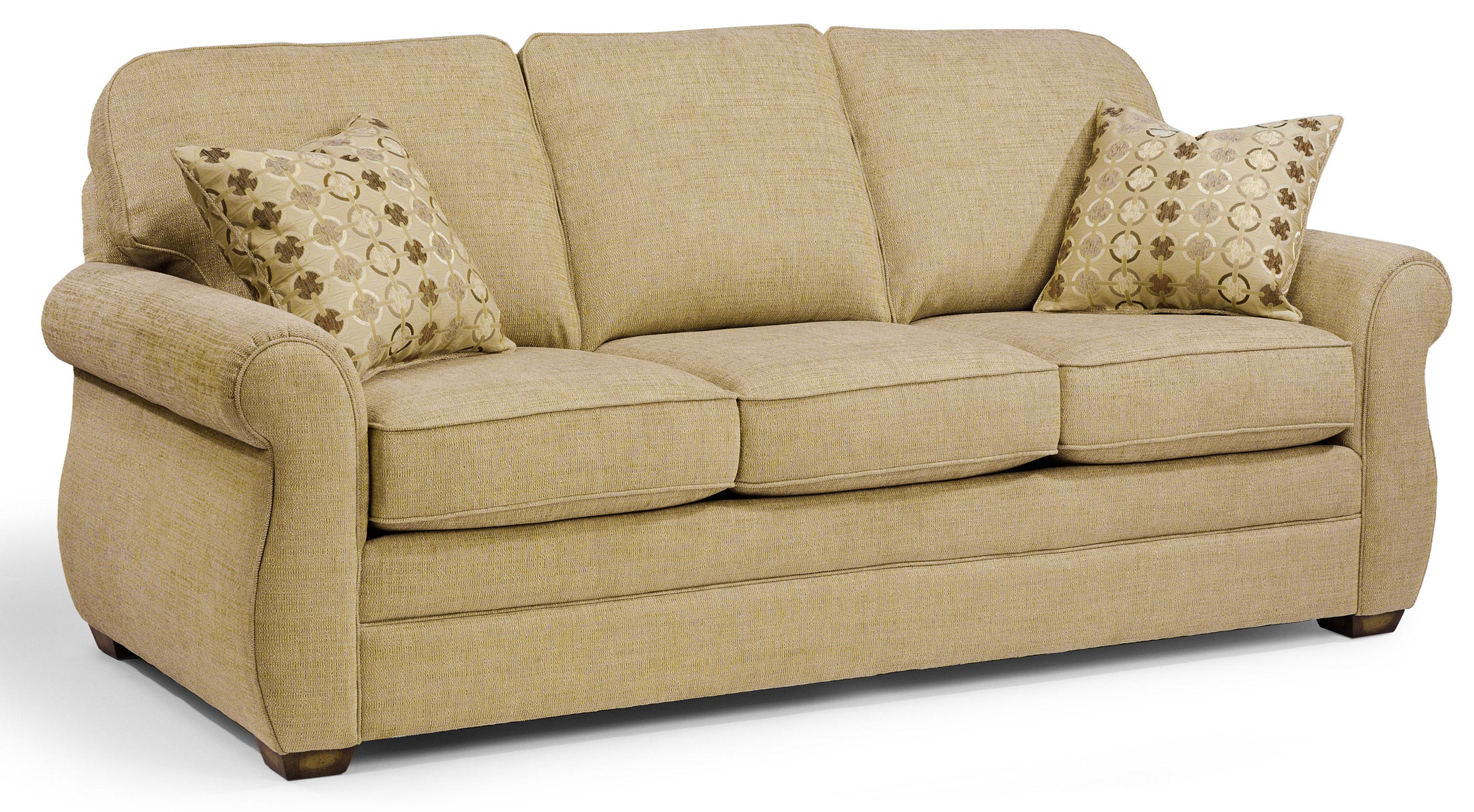 Flexsteel Whitney Sofa with Turned Arms and Wood Block Feet     Flexsteel Whitney Sofa   Item Number  5643 31