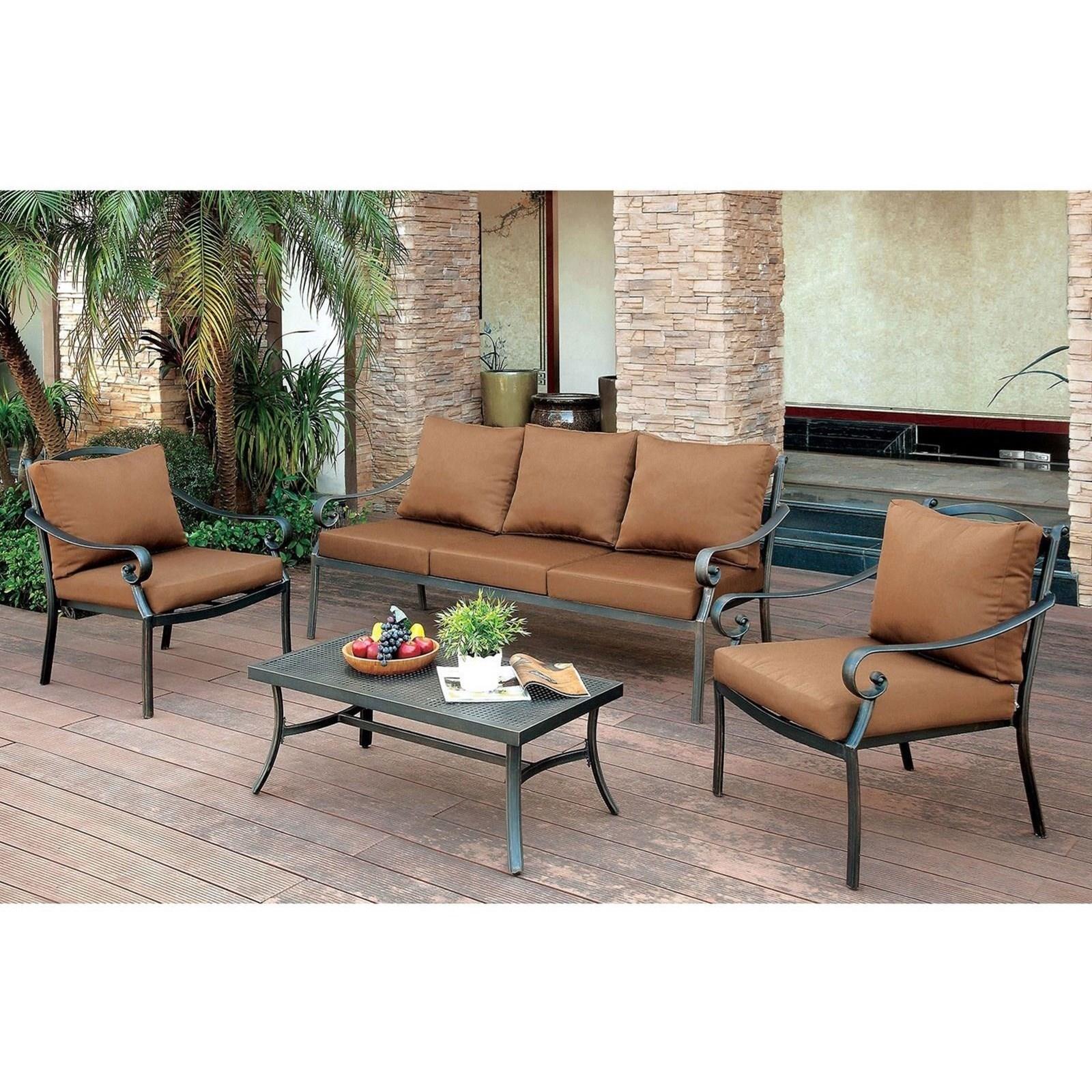 bonquesha i 4 piece patio seating set