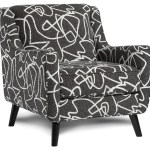 Fusion Furniture 240 Mid Century Modern Accent Chair With Angled Arms Howell Furniture Upholstered Chairs