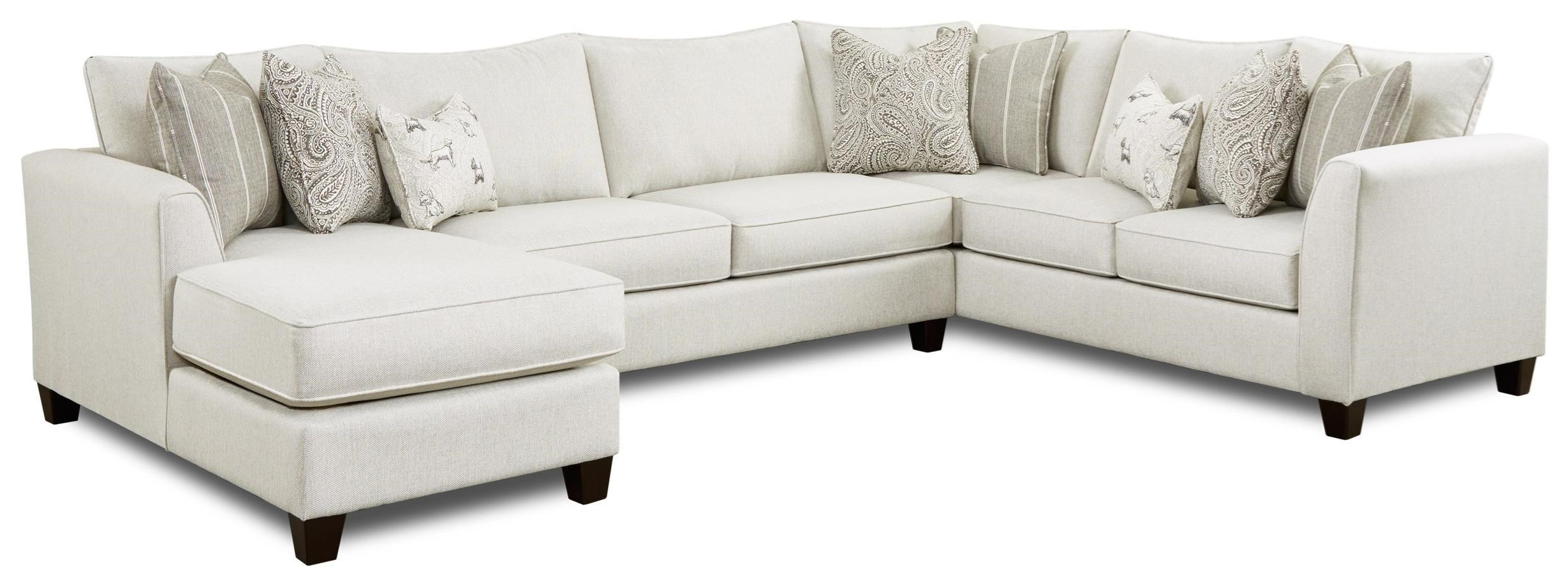 3 piece sectional with left chaise
