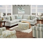 Fusion Furniture 4200 L Shaped Sectional With Reversible Cushions Sheely S Furniture Appliance Sectional Sofas