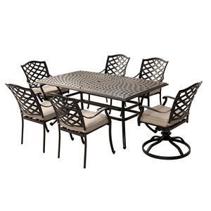 peyton 7 piece outdoor dining set