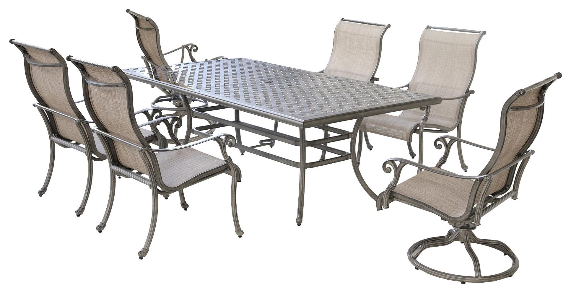 harper 7 piece outdoor dining set