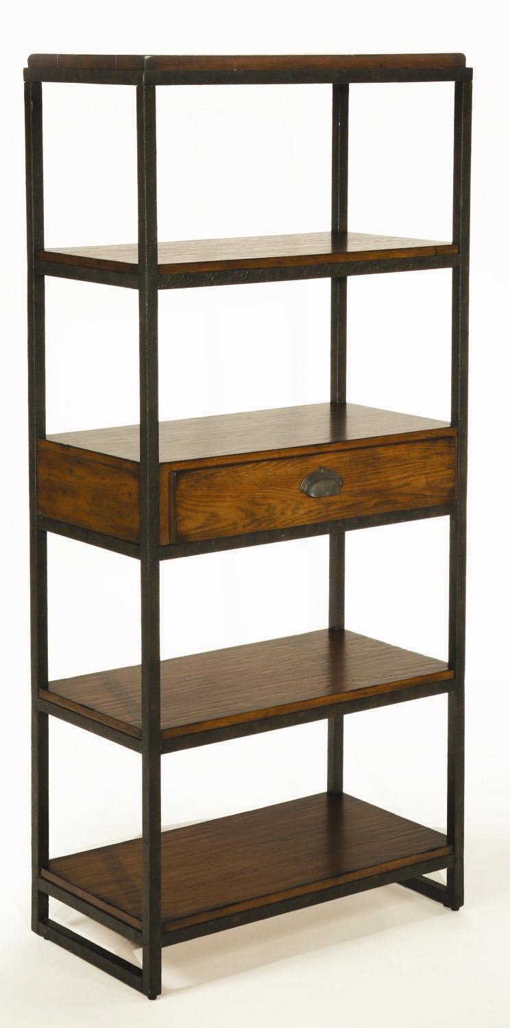 Hammary Baja Etagere With 4 Shelves And Drawer Wayside