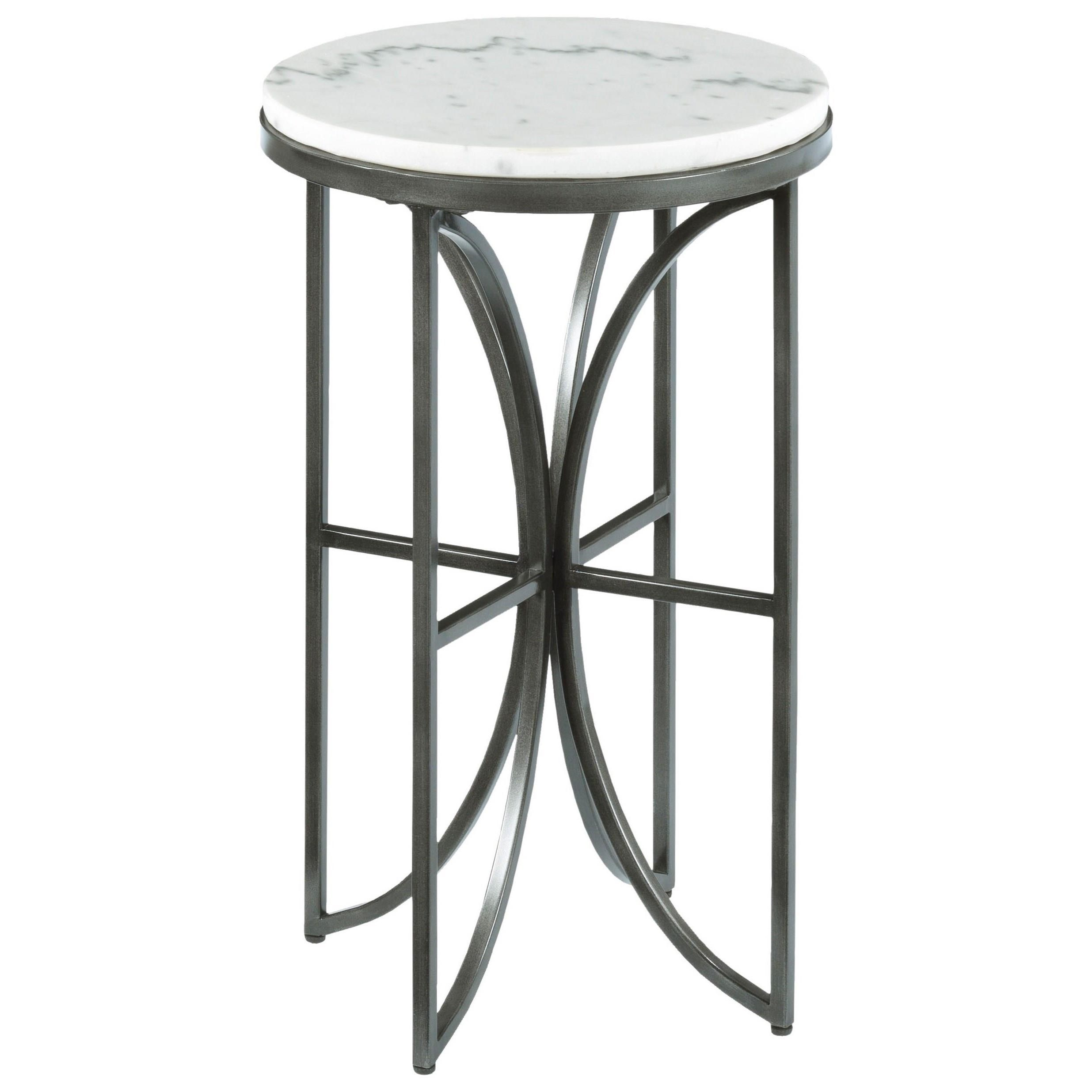 Hammary Impact Small Round Accent Table With Marble Top Lindy S Furniture Company End Table