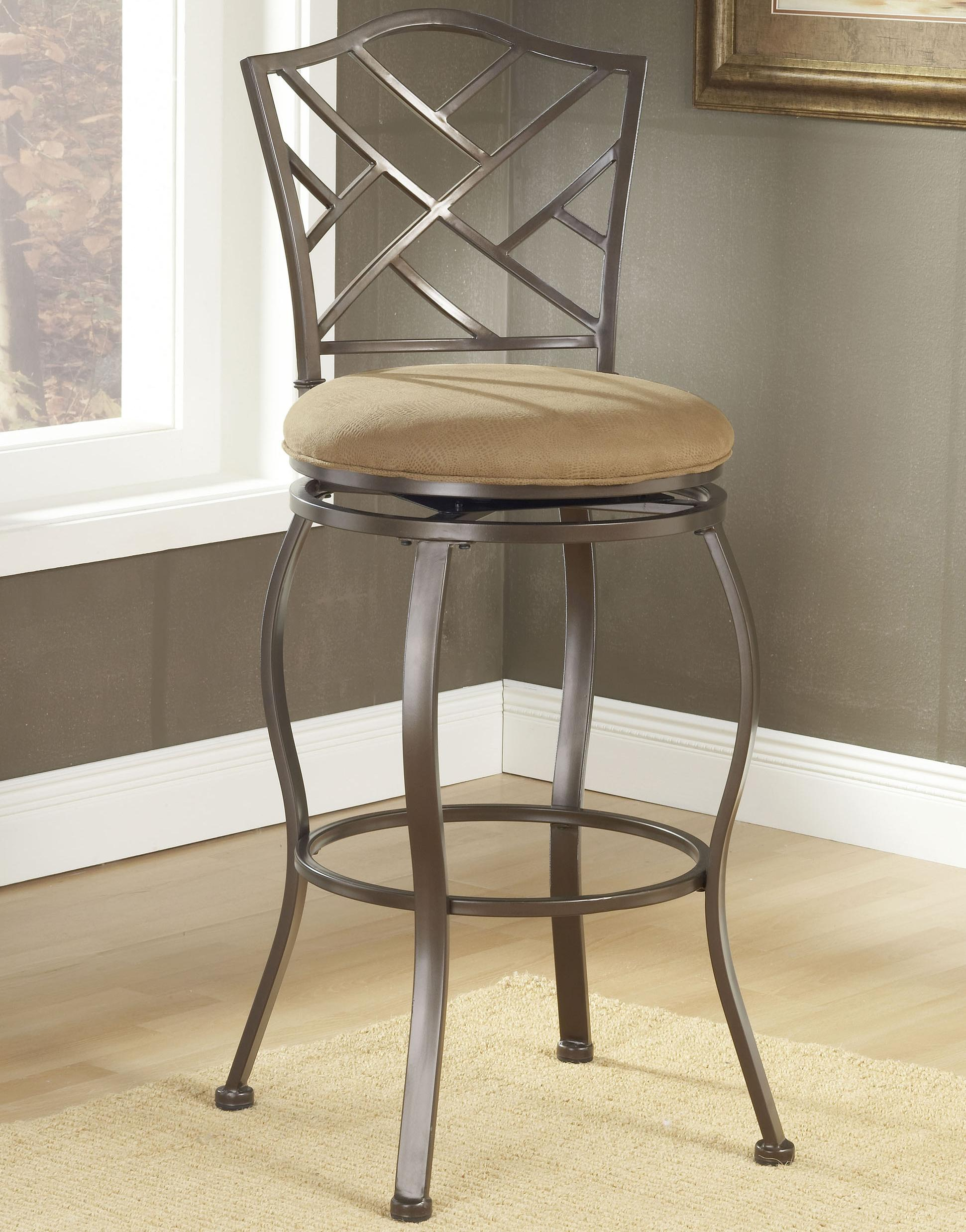 Hillsdale Stools 4815 843 Counter Height Hanover Swivel Stool With Metal Back Miller Home Bar Stools