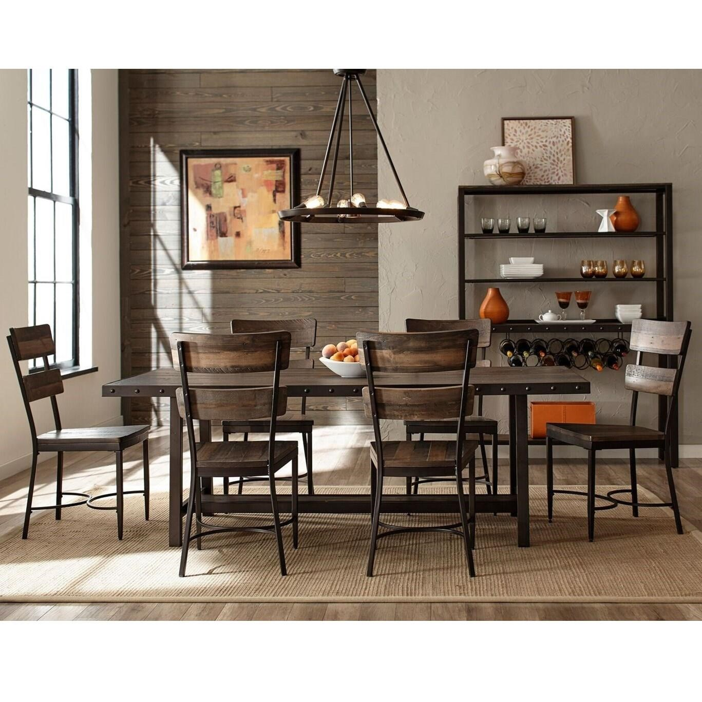 Hillsdale Jennings 4022DTB7PC Industrial Dining Room Set
