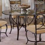Hillsdale Pompei 48 Round Dining Table Westrich Furniture Appliances Kitchen Tables