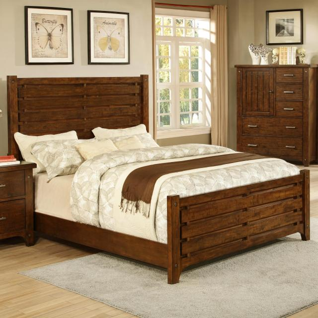 Holland House Mustang Queen Slat Bed Royal Furniture Headboard