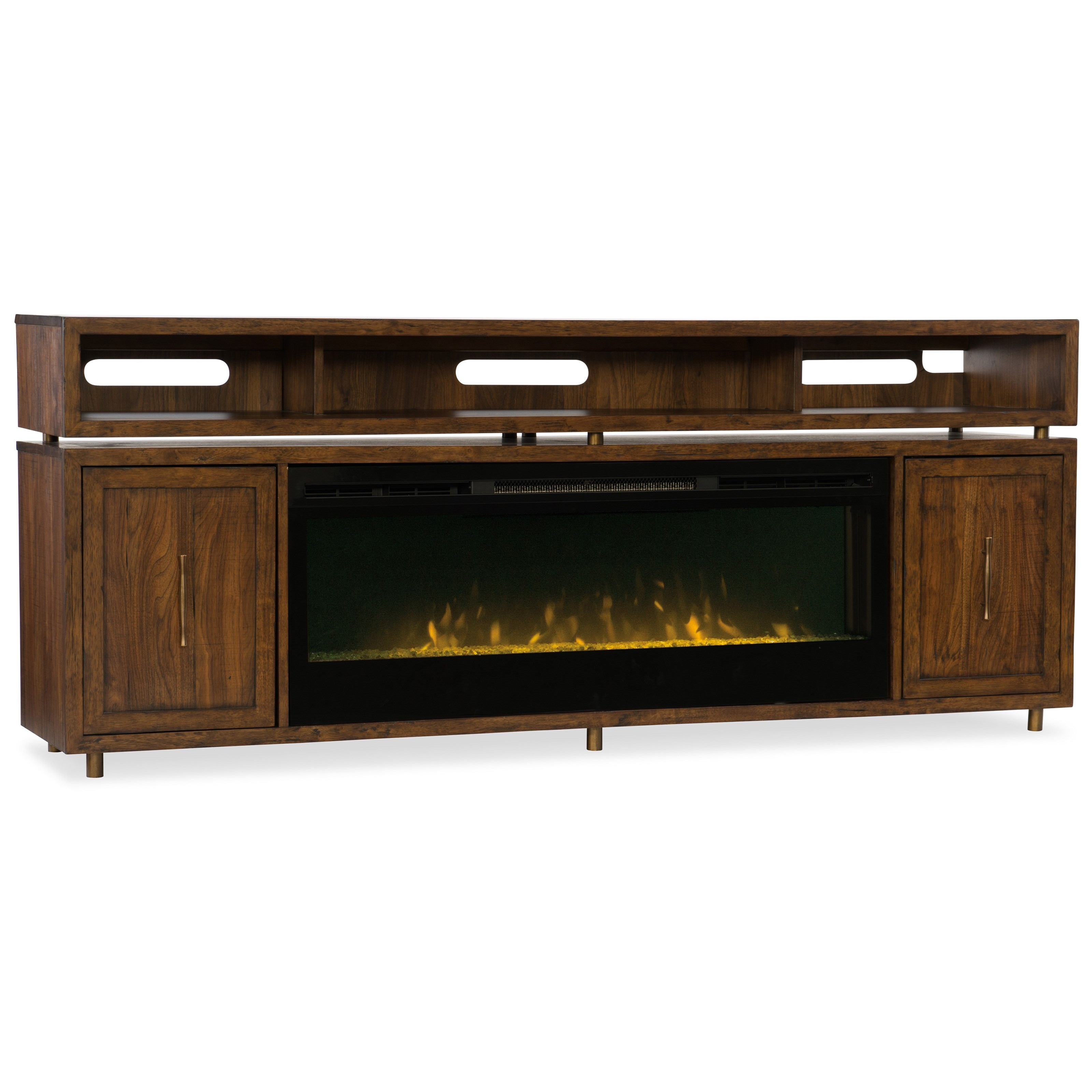 Hooker Furniture Big Sur Entertainment Console With Fireplace Insert Wayside Furniture Tv Stands