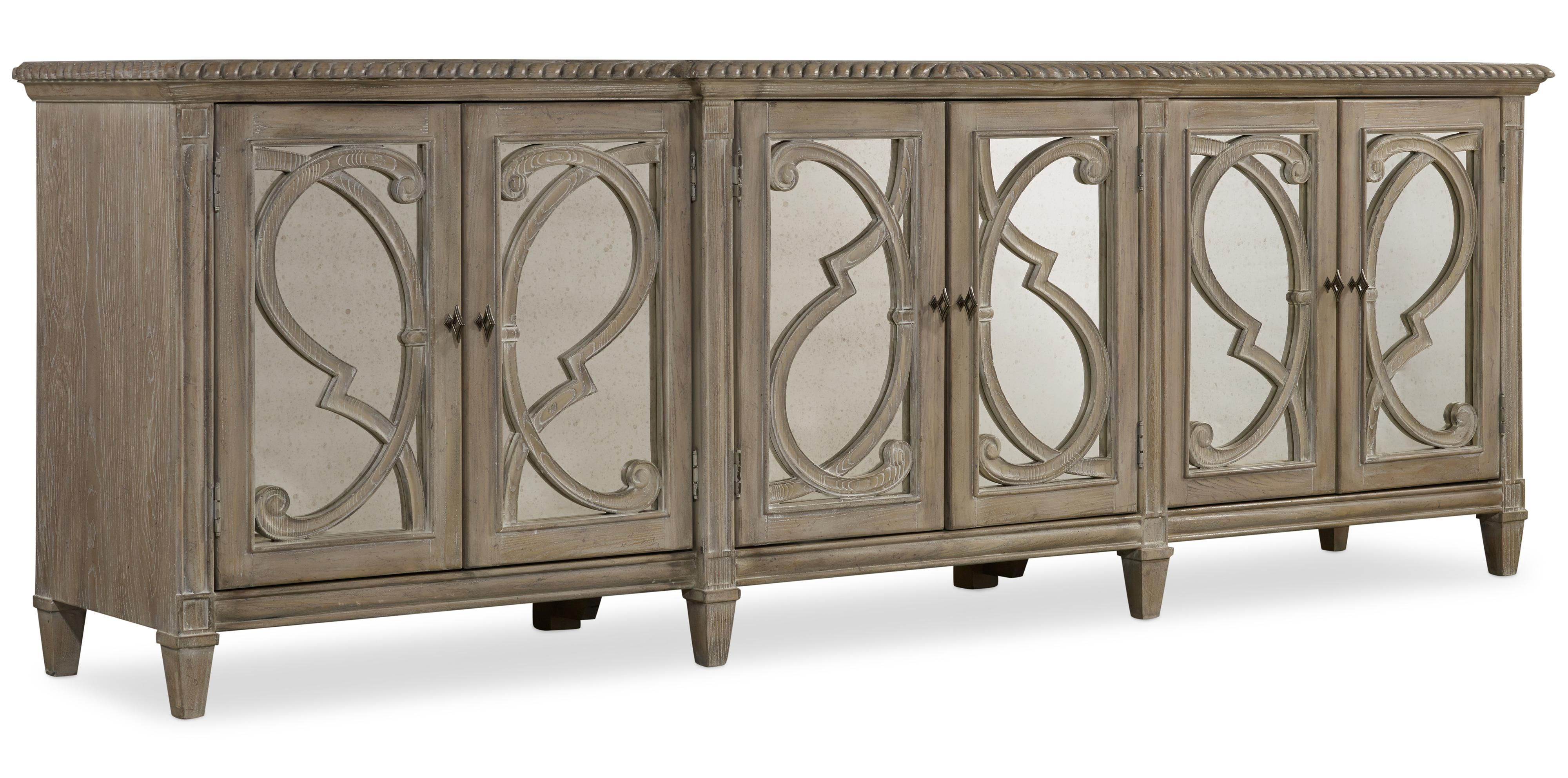 Hooker Furniture Solana 5591 85001 Console With 6 Glass