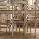 Reveal Secrets Distressed White Dining Room Furniture 26