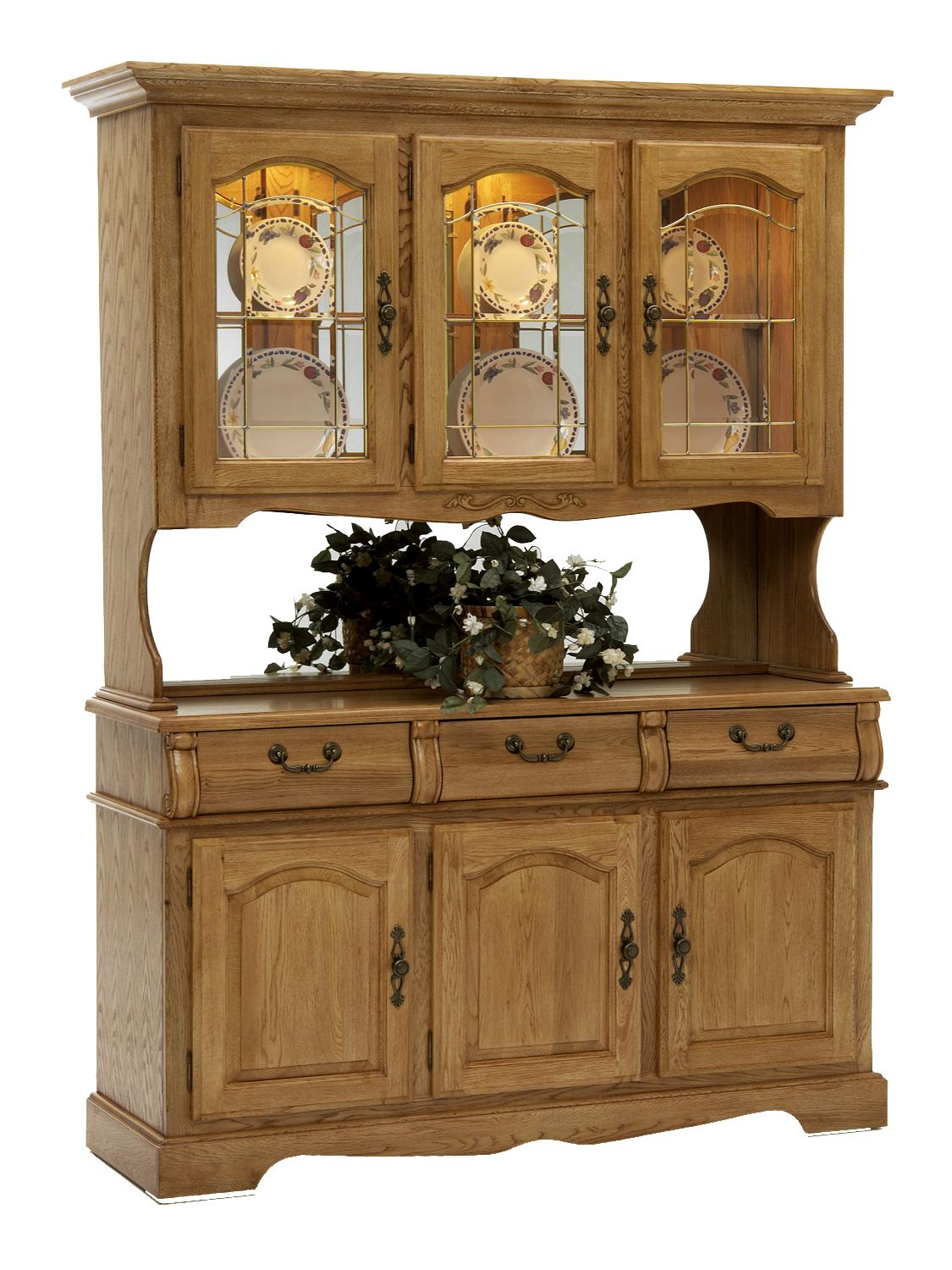 Intercon Classic Oak 60 China Hutch With Three Half Doors