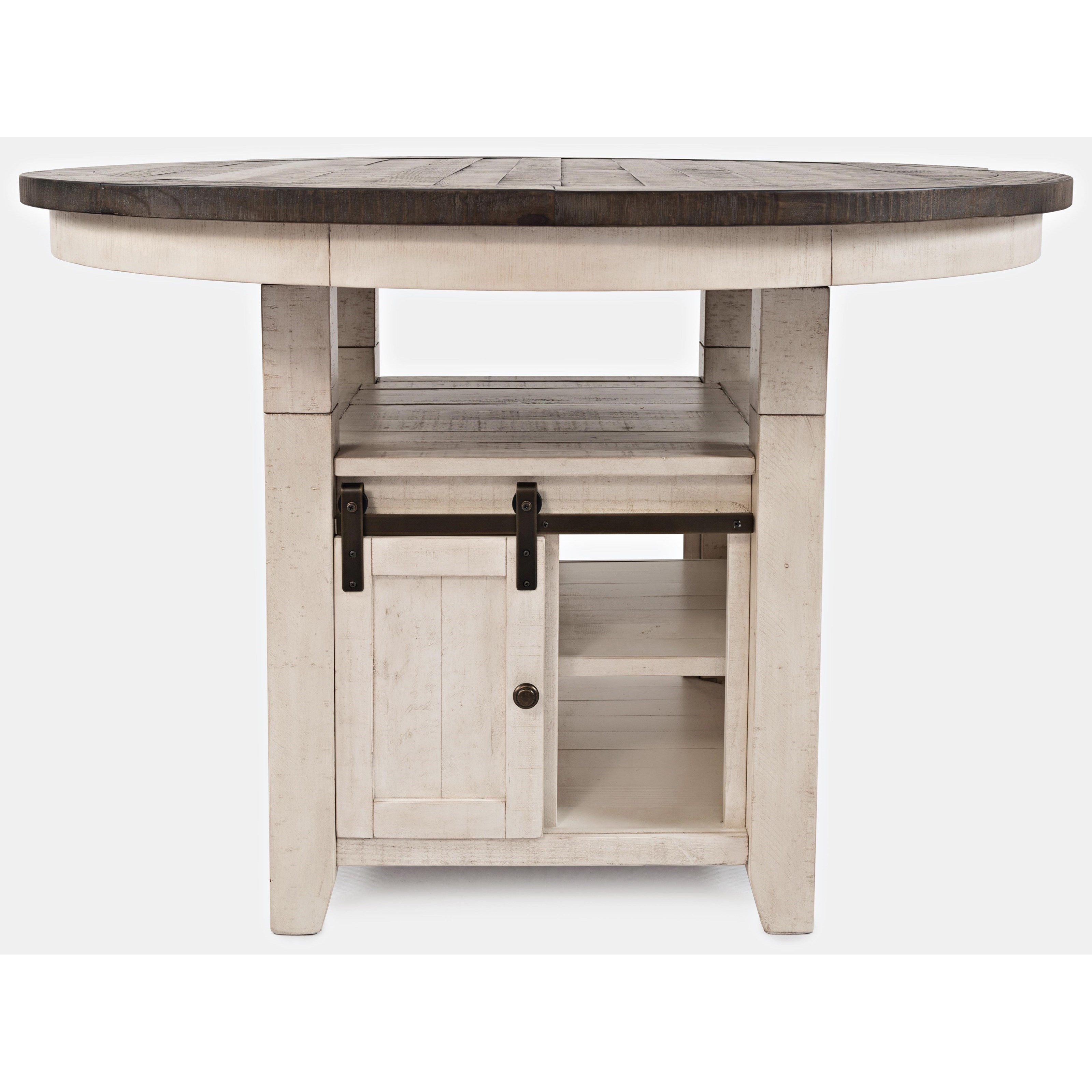 madison county high low round dining table