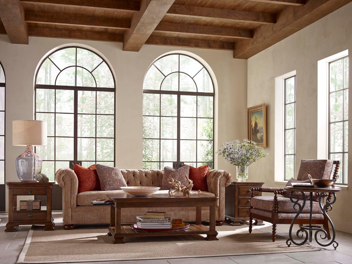 Kincaid Furniture Portolone Traditional Round Accent Table