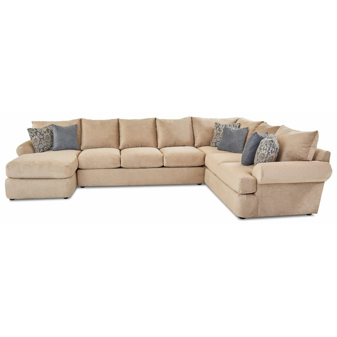 cora 3 piece sectional sofa w laf chaise