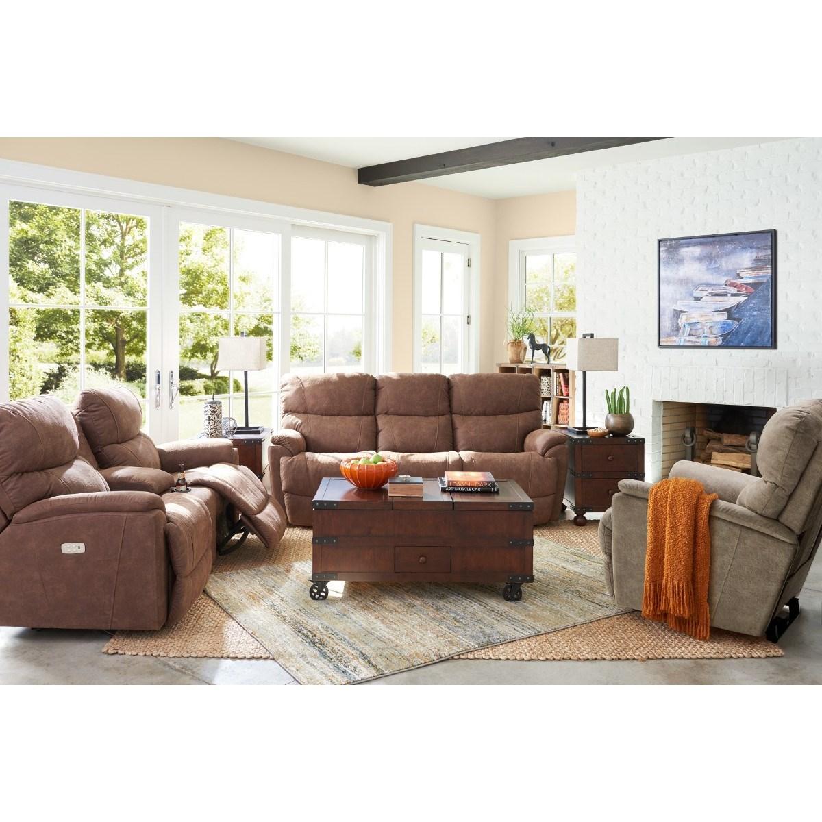 La Z Boy Trouper Reclining Sofa Conlins Furniture