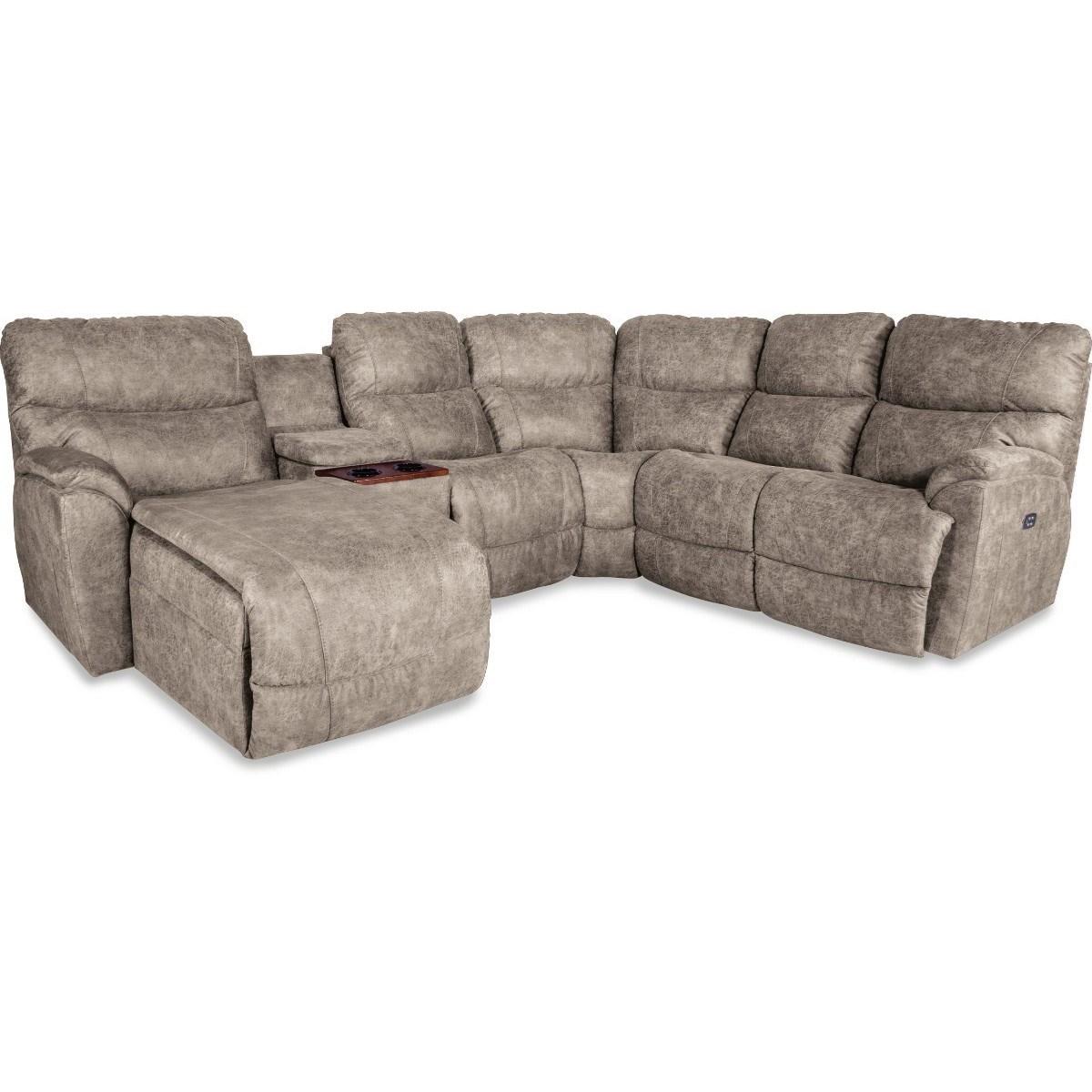 trouper 5 pc pwr reclining sofa w ras chaise