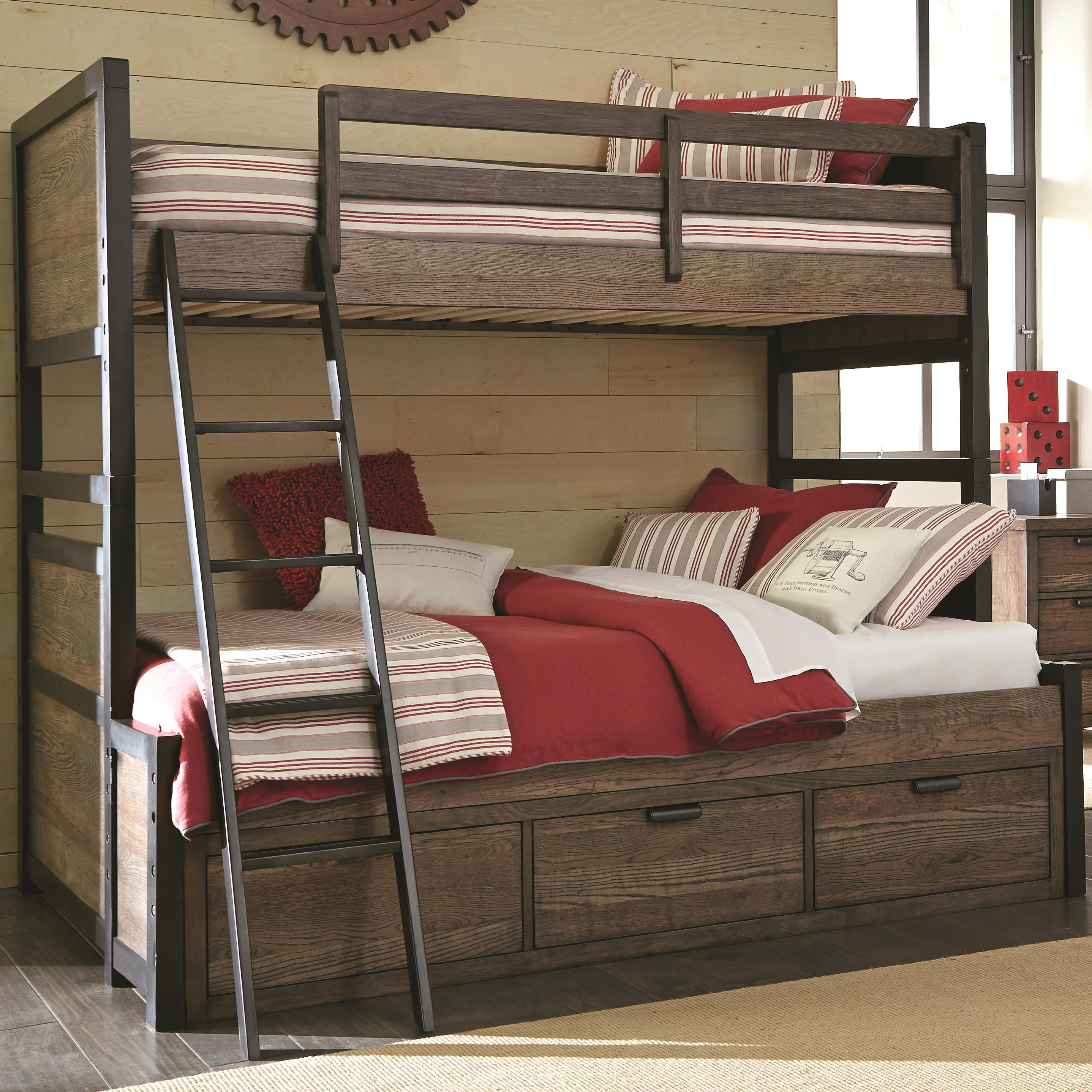 Double Over Double Bunk Beds With Storage Novocom Top