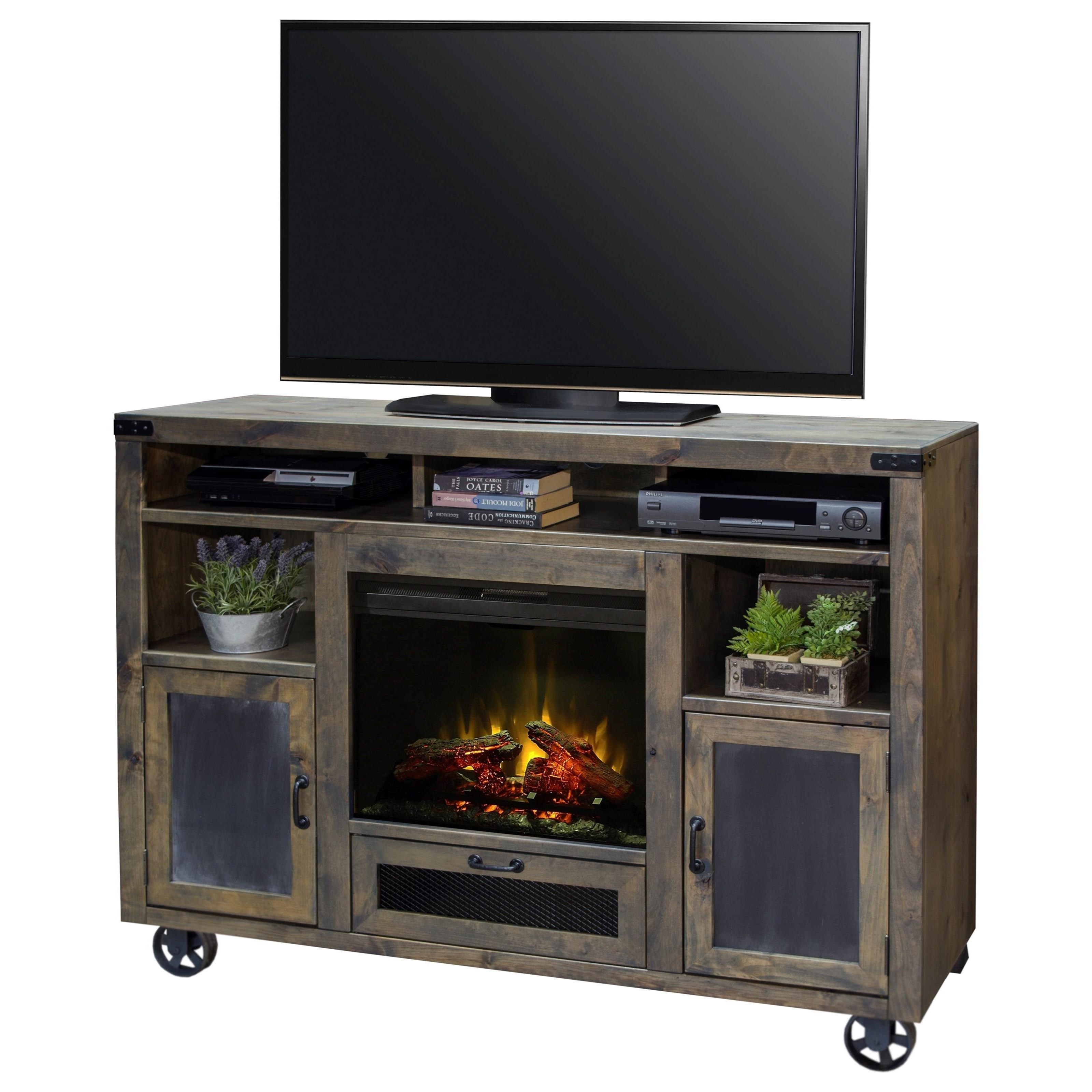 Legends Furniture Cargo 62 Fireplace Console With Bottom