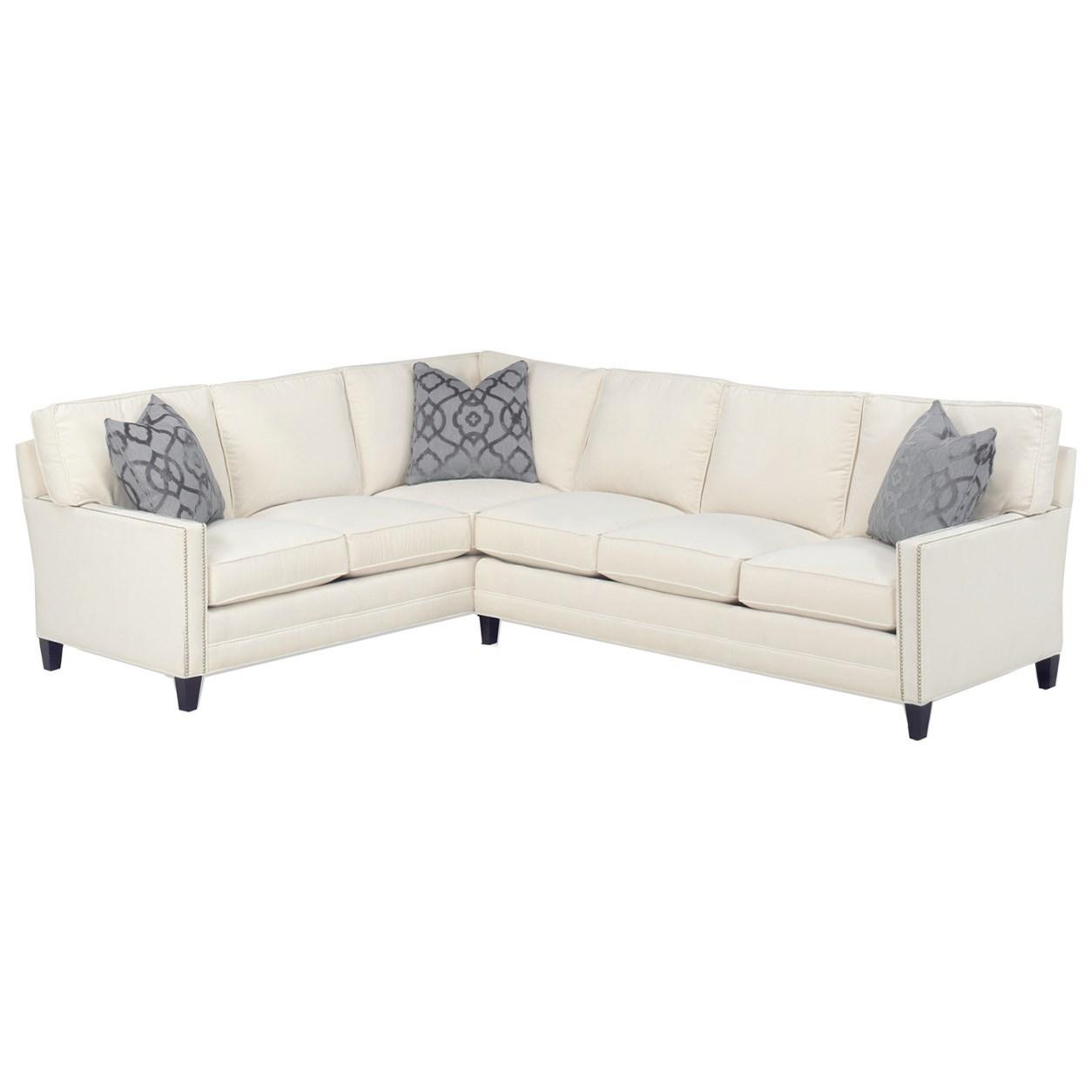 Lexington Personal Design Series Customizable Bristol 2 Pc Sectional W LAF Corner Sofa 3 Inch
