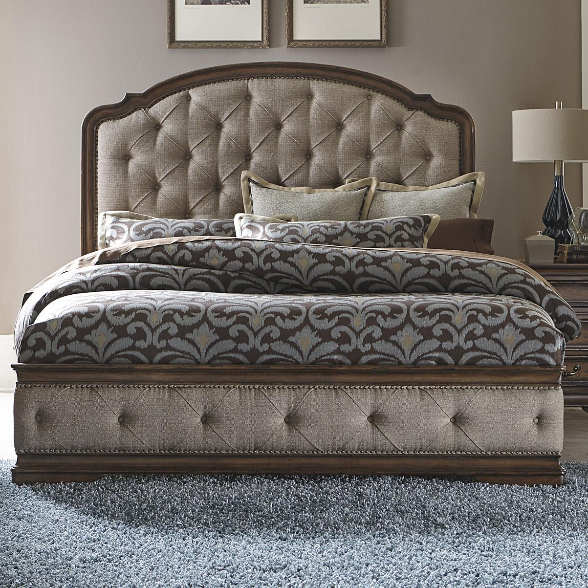 Liberty Furniture Amelia Traditional King Upholstered Bed