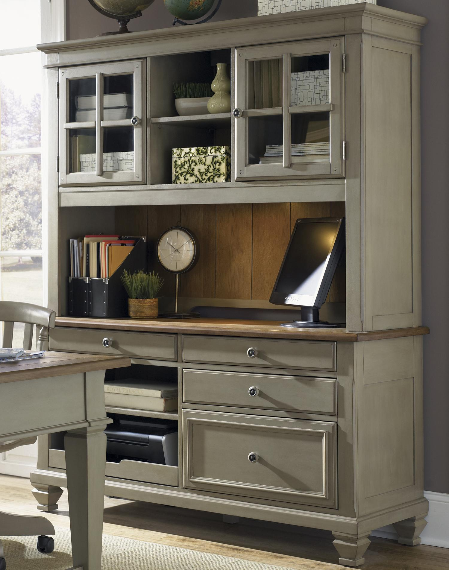 Stylish Office Furniture Hutch Credenza With Desk Set
