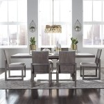 Liberty Furniture Modern Farmhouse 7 Piece Trestle Table And Chair Set Royal Furniture Dining 7 Or More Piece Sets