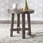 Liberty Furniture Modern Farmhouse Contemporary Splay Leg Round End Table Darvin Furniture End Tables