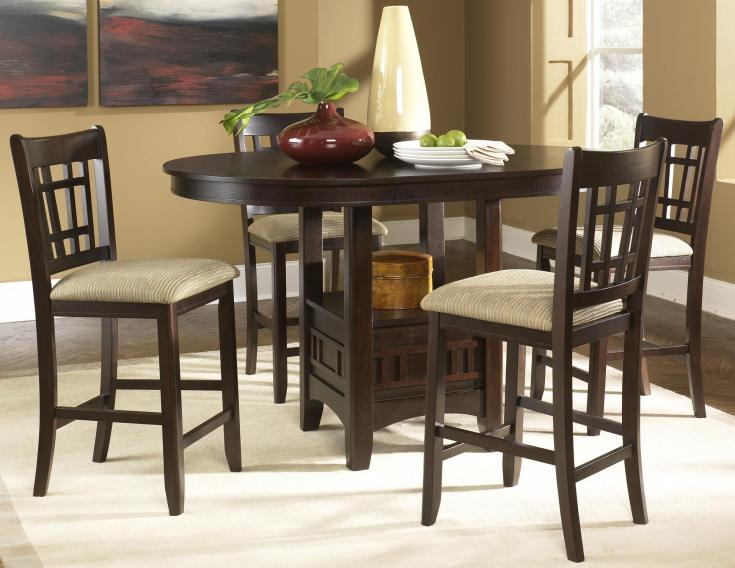 liberty furniture santa rosa oval pub table & 24 inch upholstered