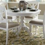 Liberty Furniture Summer House I Round Table With Turned Pedestal Base Wayside Furniture Kitchen Tables