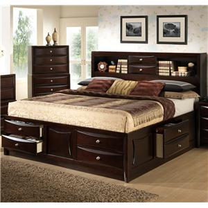 c0172 queen storage bed w bookcase headboard by lifestyle at beck s furniture