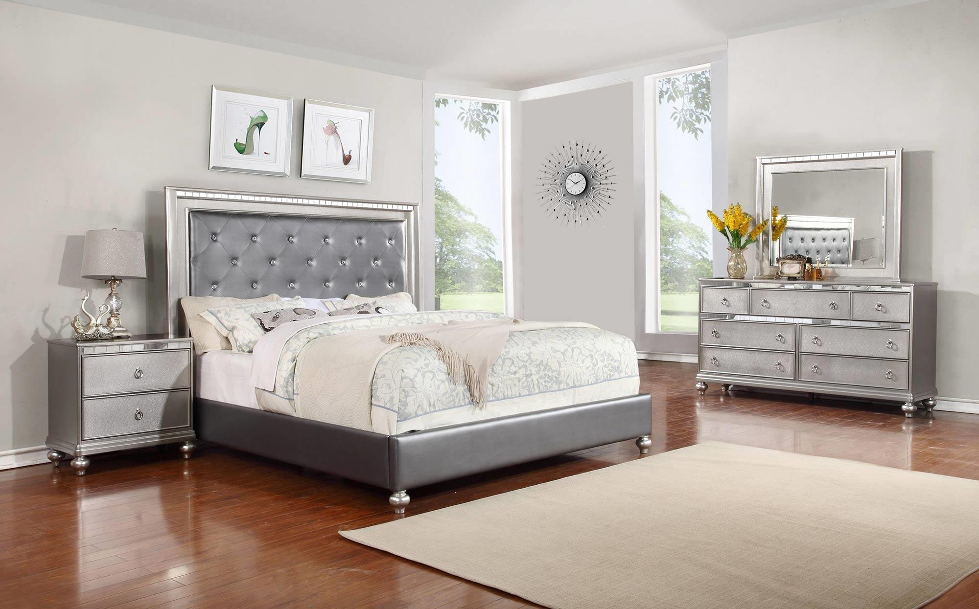 glam 4-piece king bedroom set - rotmans - bedroom group worcester