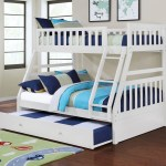 Lifestyle Cb80 Cb80white White Twin Over Full Bunk Bed No Pull Out Furniture Fair North Carolina Bunk Beds
