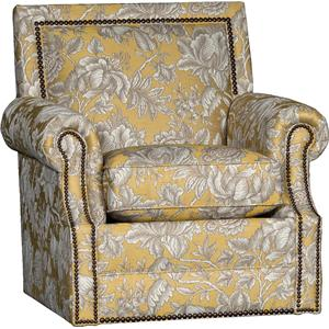 mayo 4110 traditional roll arm swivel chair olinde s furniture upholstered chairs