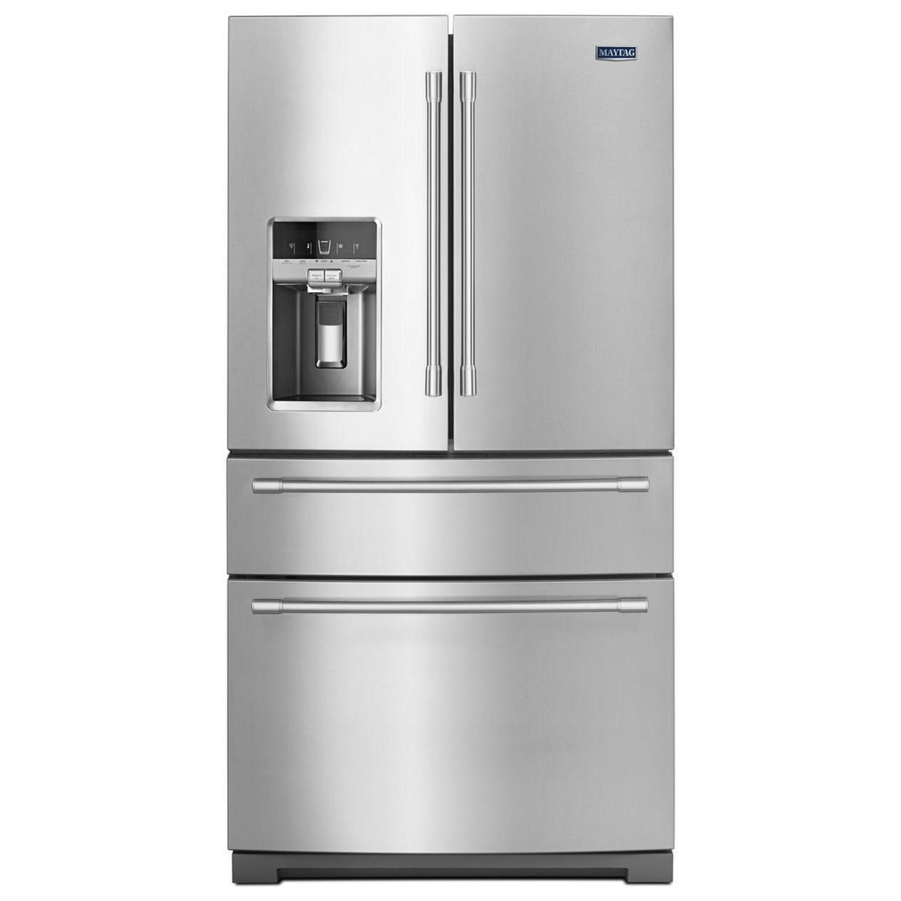 Maytag 36 Inch Wide 4 Door French Door Refrigerator With