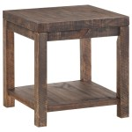 Craster Reclaimed Wood Square Side Table In Smoky Taupe Sadler S Home Furnishings End Tables