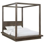 Modus International Melbourne Contemporary California King Canopy Bed A1 Furniture Mattress Canopy Beds