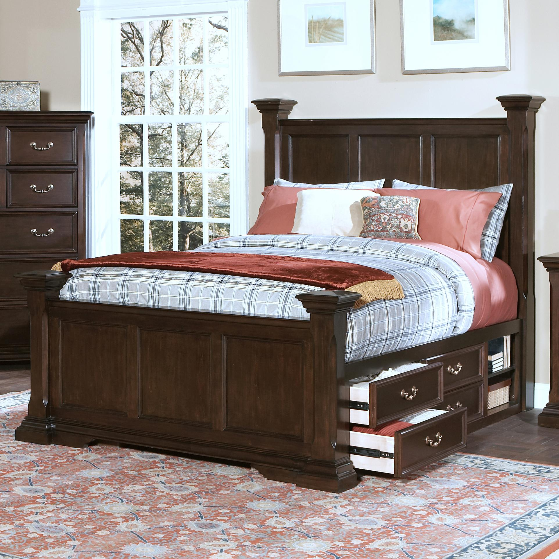 New Classic Timber City California King Captain S Bed With