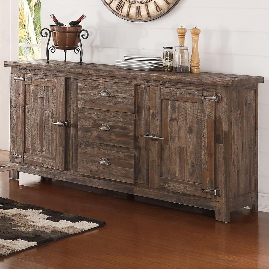 New Classic Tuscany Park Sideboard With Freezer Style Door Latches Royal Furniture Sideboards