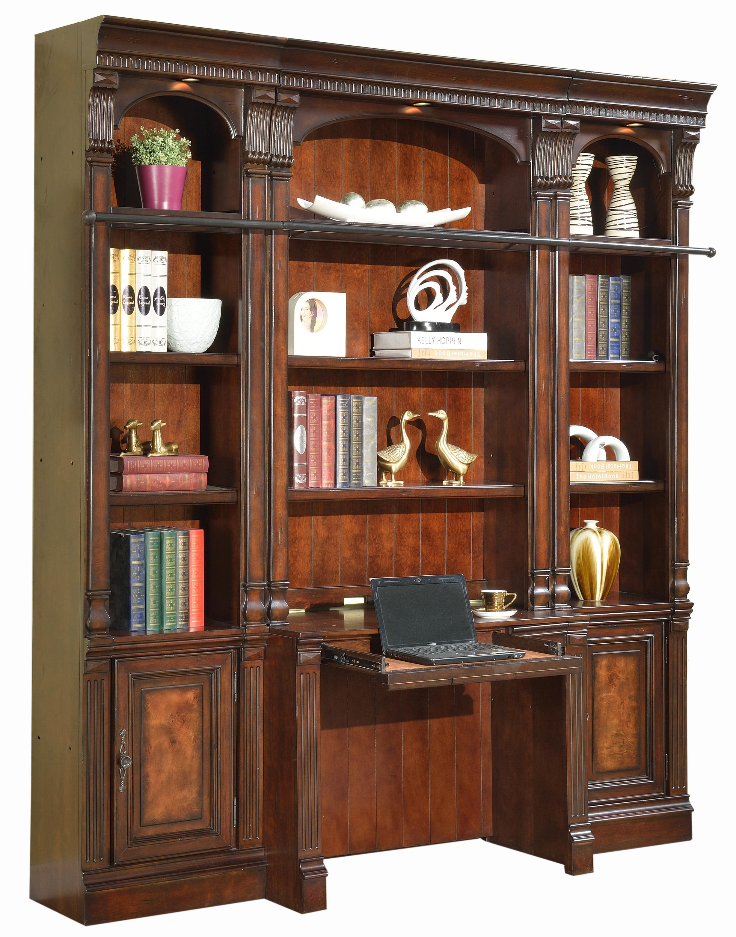 Parker House Corsica Four Piece Library Wall With Desk And