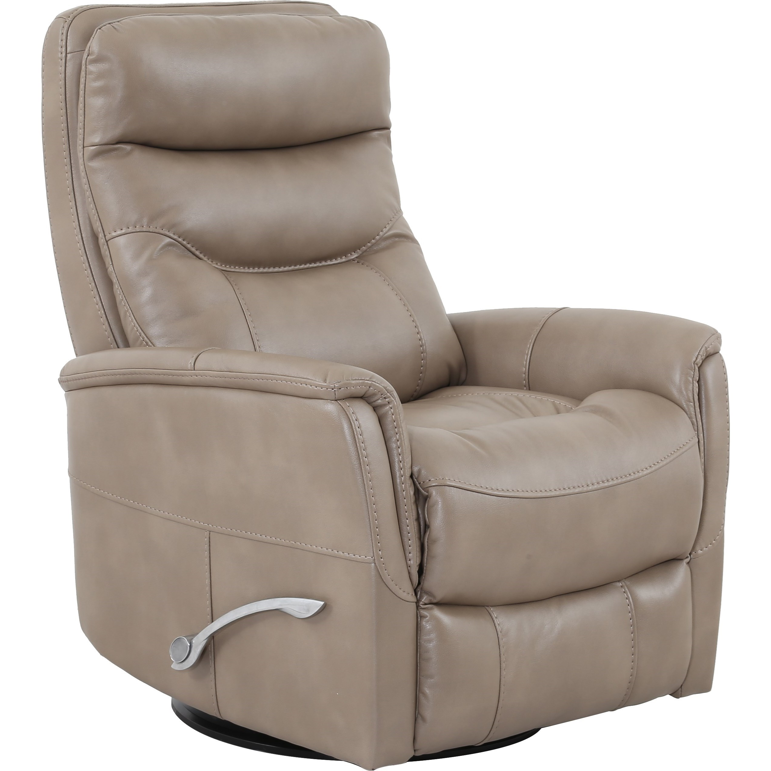 Contemporary Swivel Glider Recliner With Padded Arms Gemini By Parker Living Wilcox
