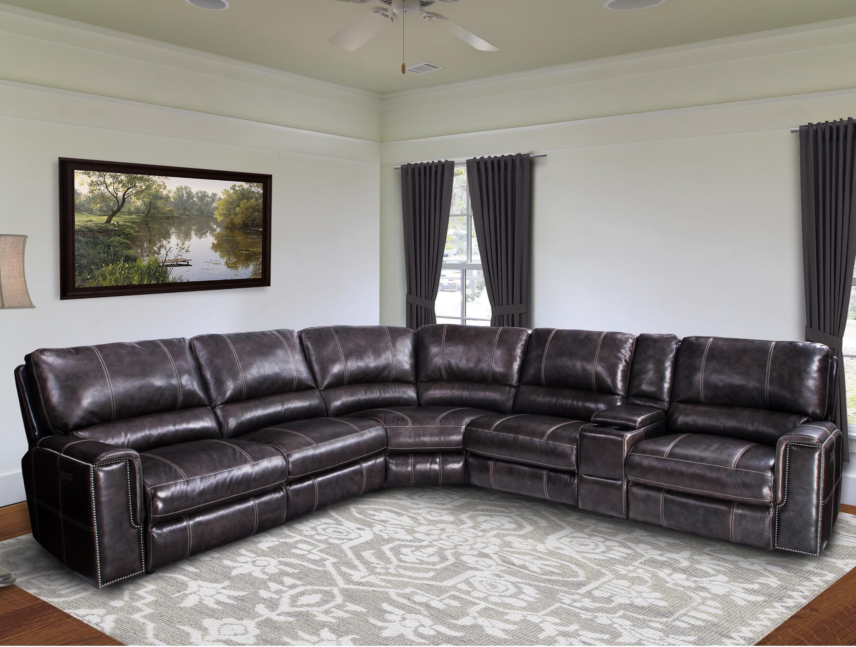 salinger power reclining sectional sofa