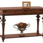 Progressive Furniture Mountain Manor Traditional Sofa Table With Two Drawers Lindy S Furniture Company Console Sofa Table