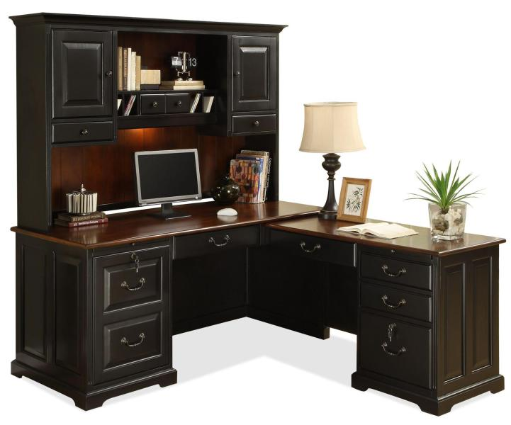 Riverside Furniture Bridgeport L Shape Computer Workstation Desk     Riverside Furniture Bridgeport L Shape Computer Workstation Desk with Hutch    AHFA   L Shape Desk Dealer Locator