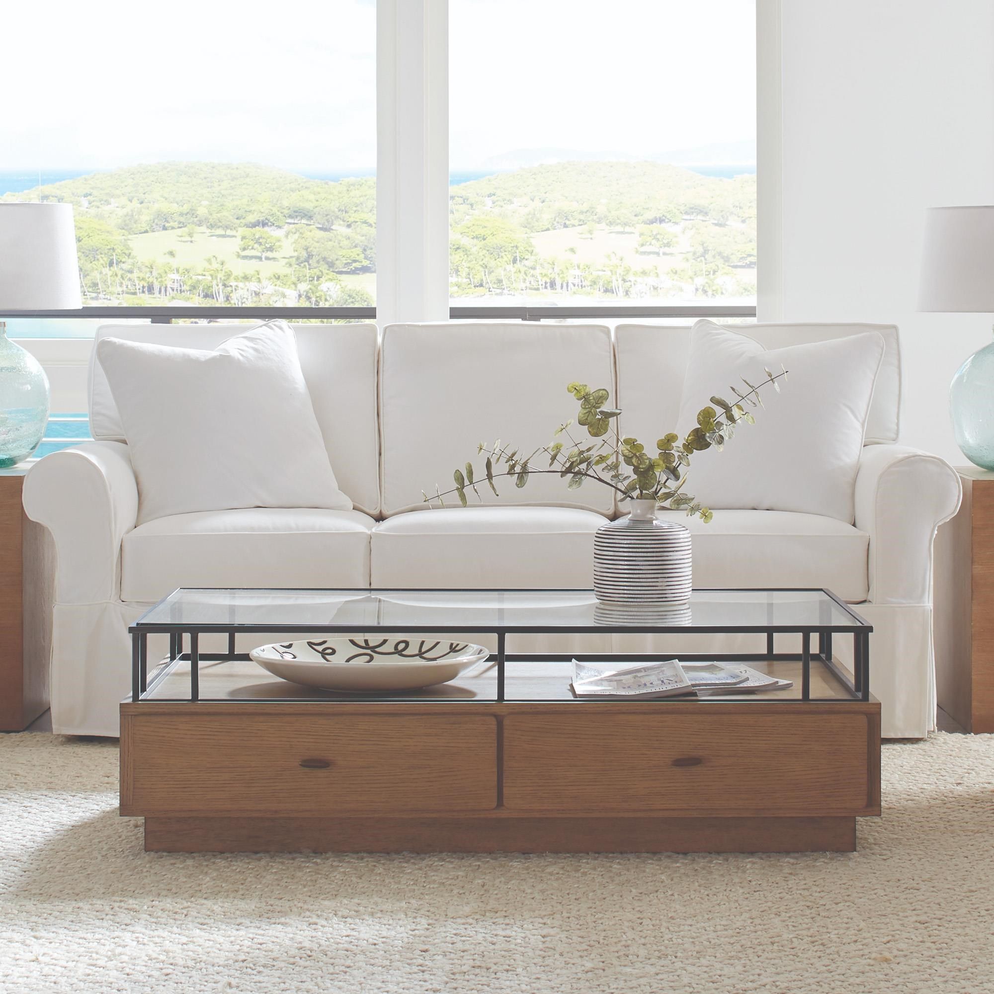 nantucket 84 3 cushion slipcover sofa